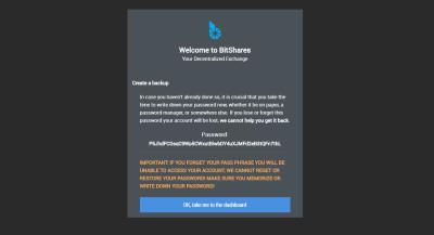 Официальный кошелек BitShares